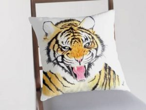Tiger roar pillow cover
