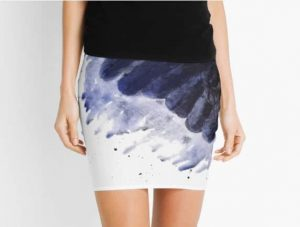 Raven Wing Pencil Skirt