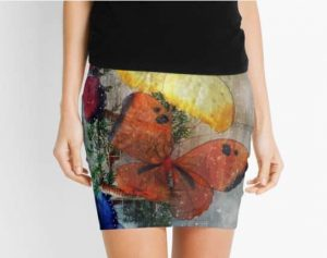 Sparkling Butterflies Pencil Skirt