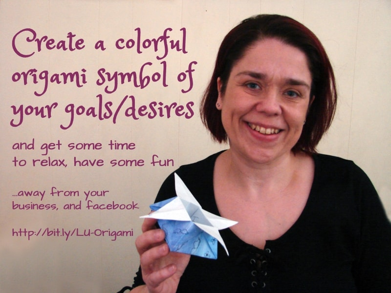 How to create a colourful origami symbol of your desires