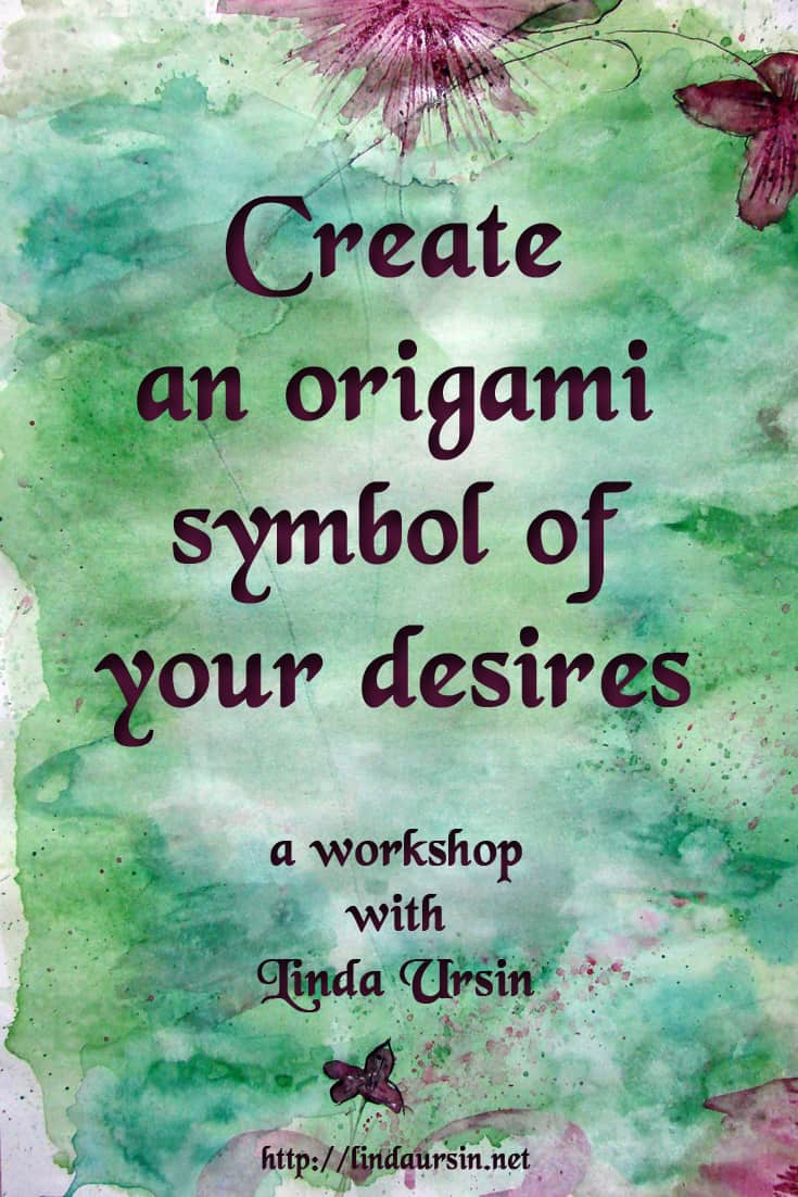 Create a colourful origami symbol of your desires