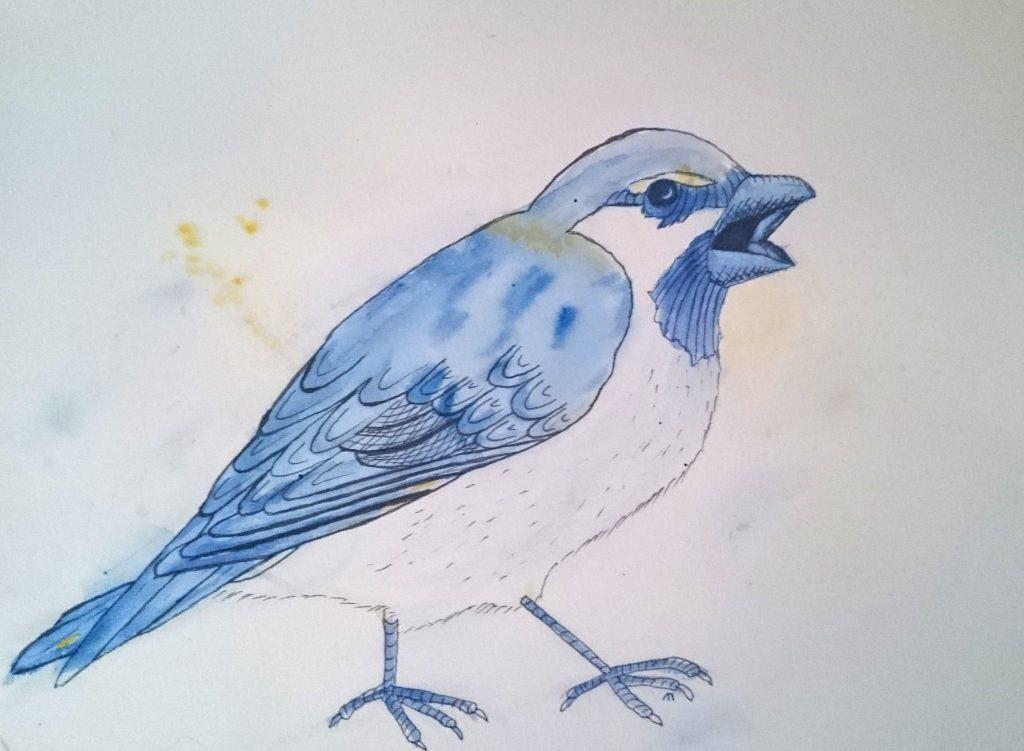 Strange Bird 2: Blue Sparrow with Attitude by Linda Ursin