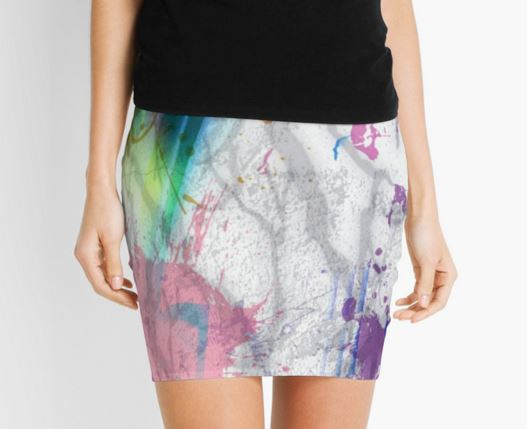 Color Splash Pencil Skirt