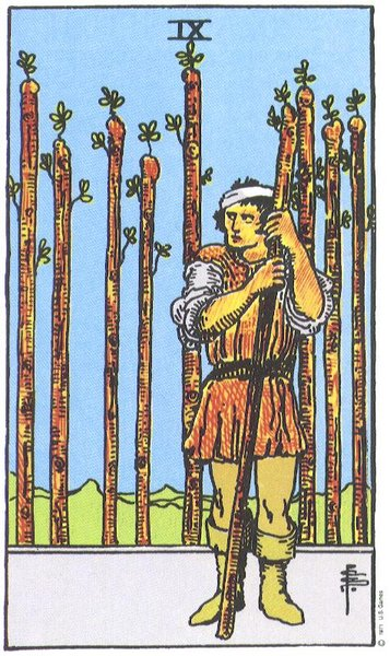 Rider-Waite 9 of Wands