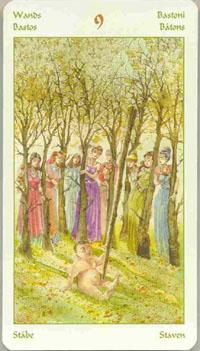 Vikings Tarot Nine of Wands