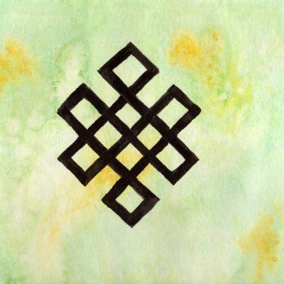 Evighetsknute - 100 Hellige Symboler i Akvarell av Linda Ursin