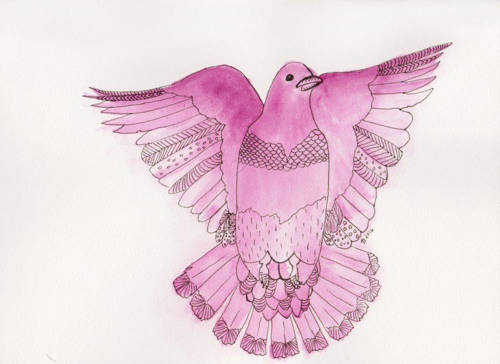 Strange Birds - 7 - Plommefarget Due i Flykt