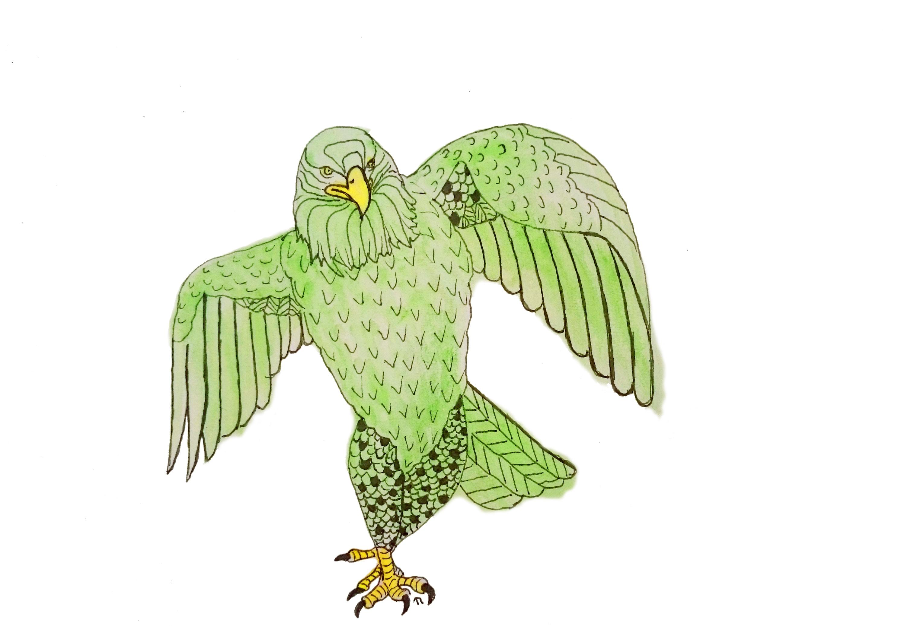 Strange Birds - 4 - Struttende Ørn i Grønt