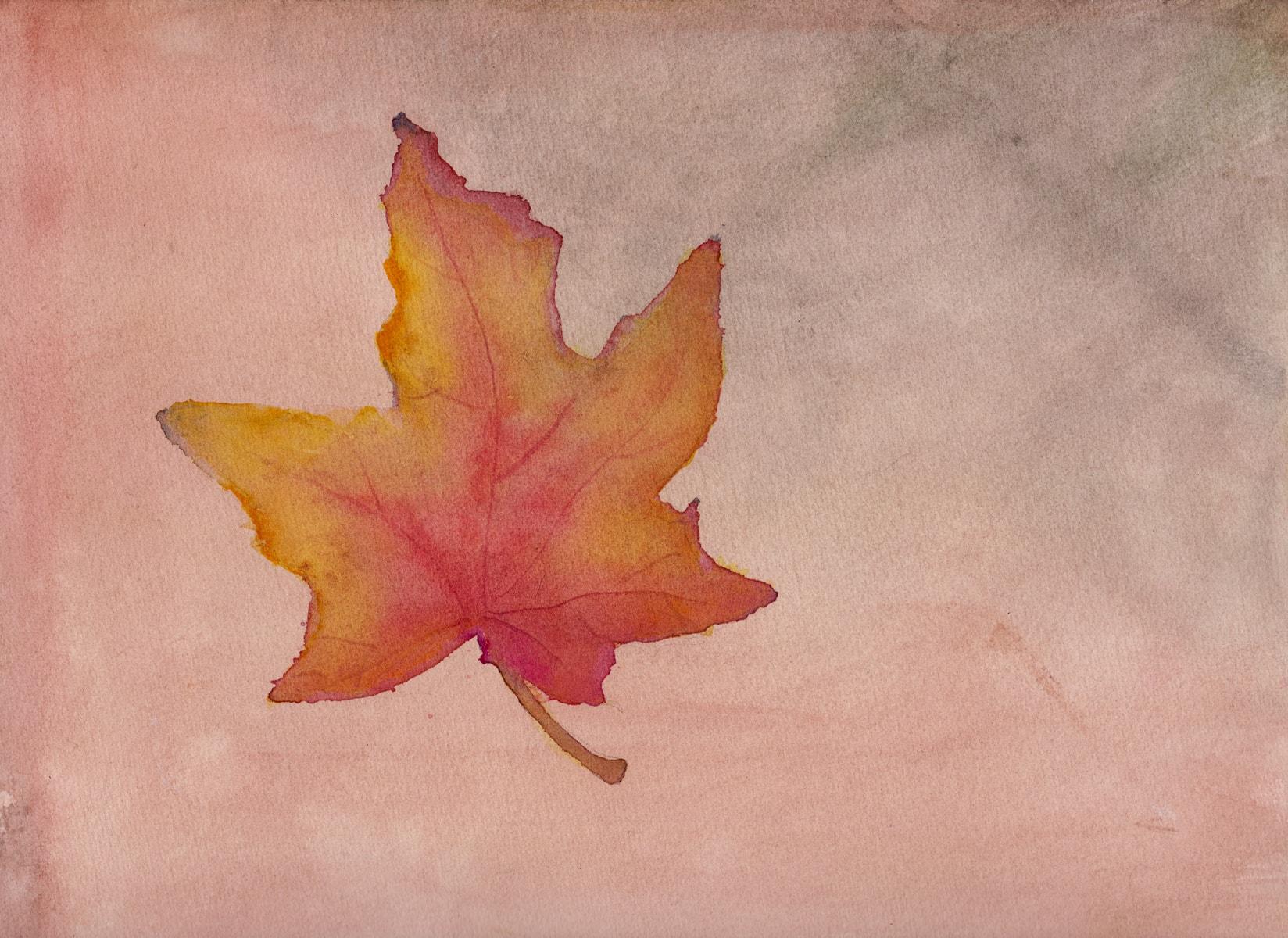Lønneblad om høsten