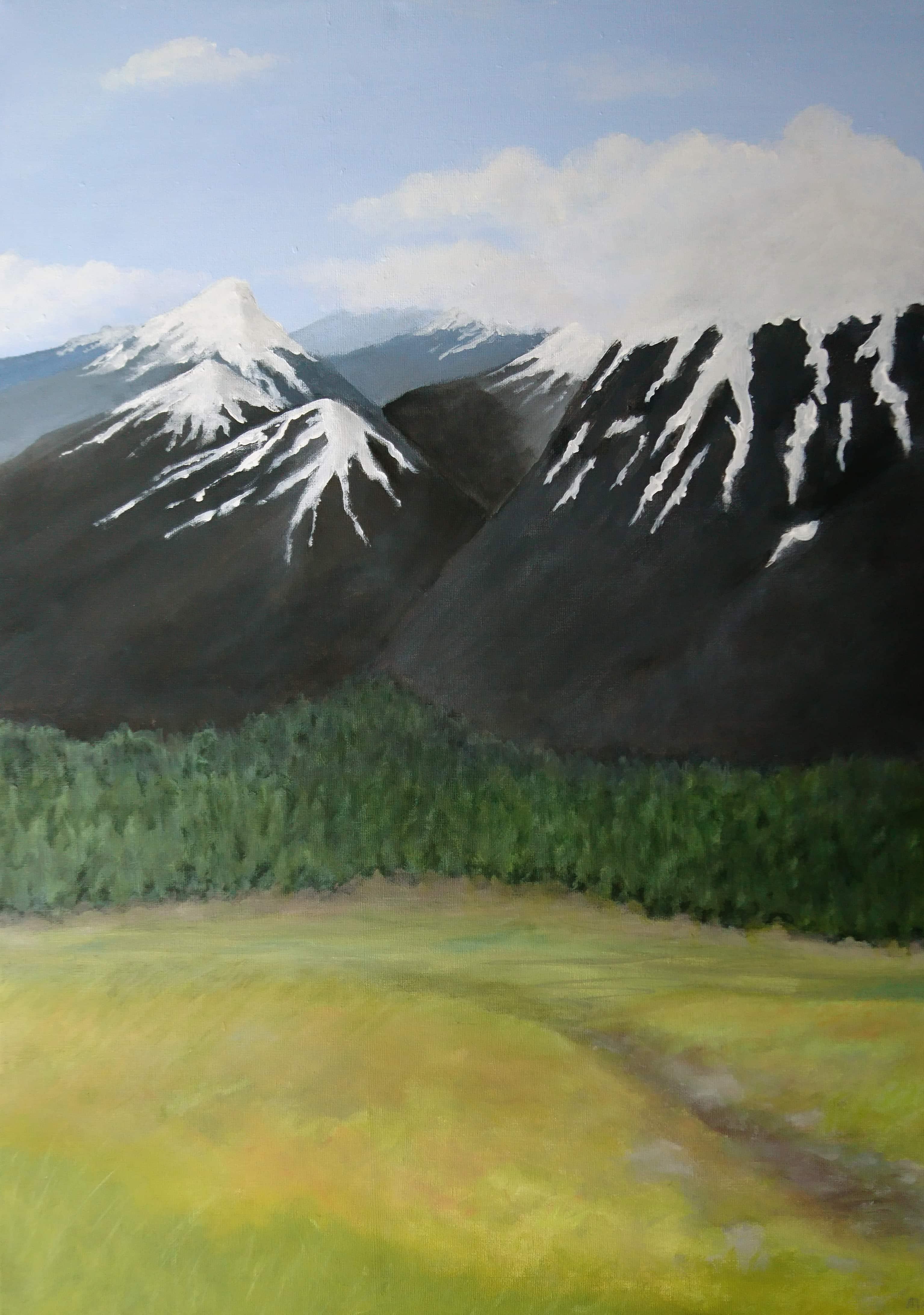 Jotunheim - landskap i akryl - Kunst av Linda Ursin