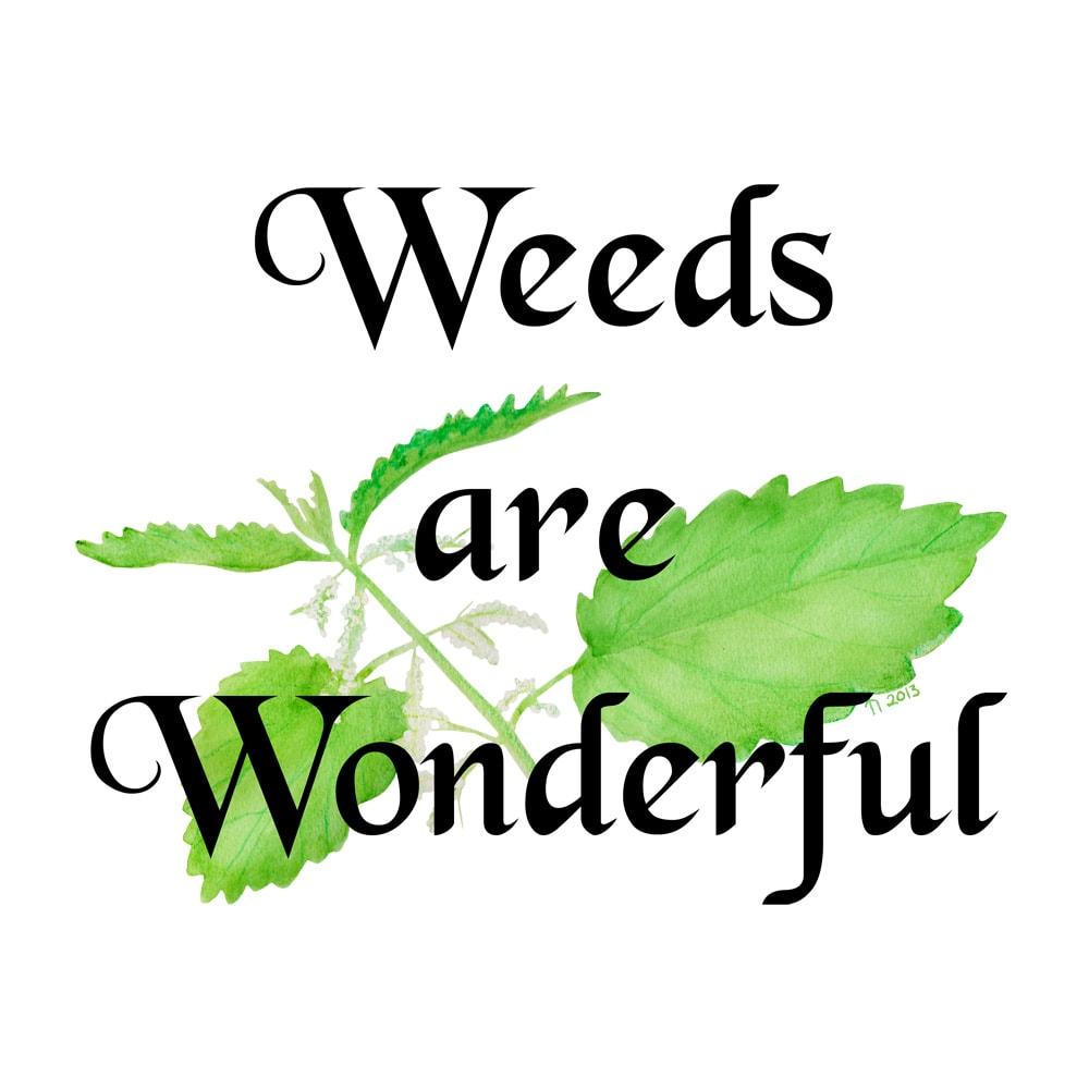 Weeds are wonderful - Ugress er underbart, en morsom ogheksete ting for en plakat ellert-skjorte. Også tilgjengelig på andre ting