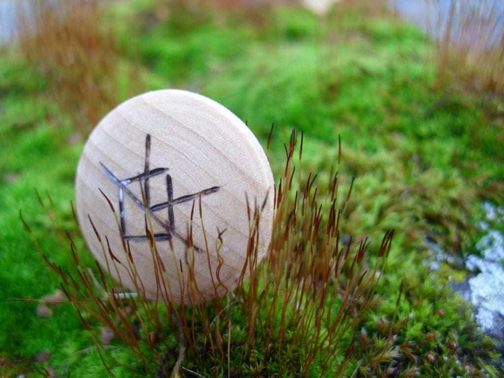 Pocket Rune for creativity - Wooden Rune Amulet