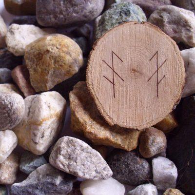 Wooden Rune Amulet For Exams - Eksamen