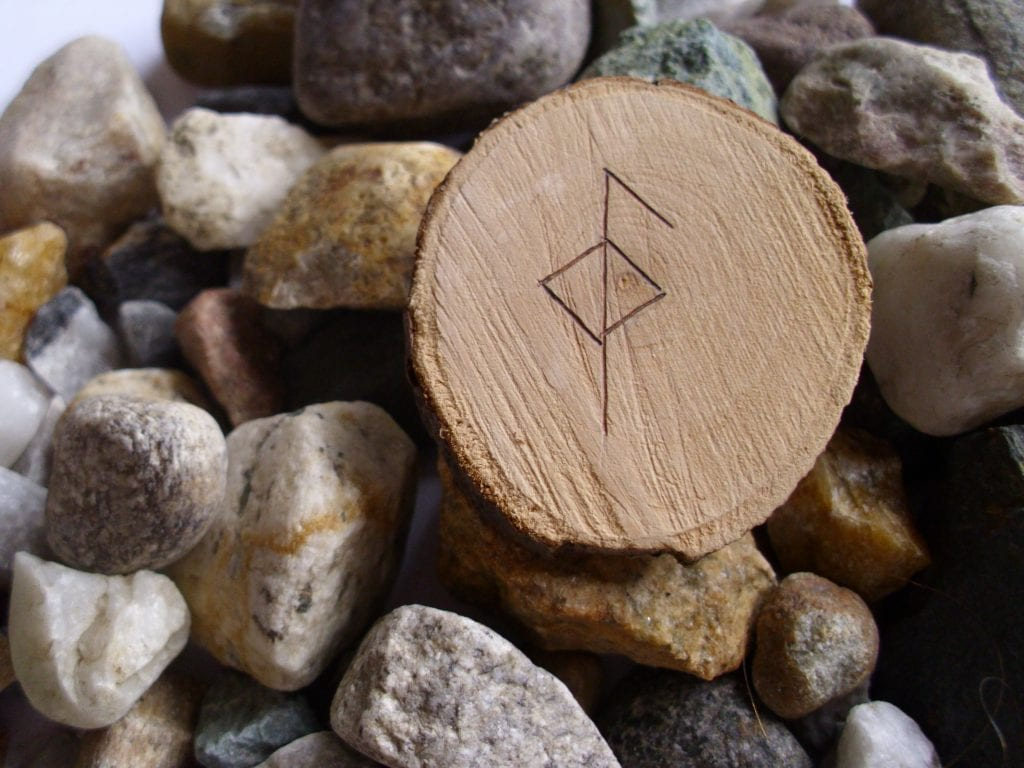 Wooden Rune Amulet For Health