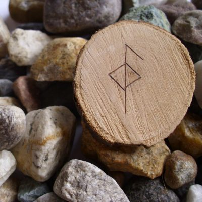 Wooden Rune Amulet For Health - Helse