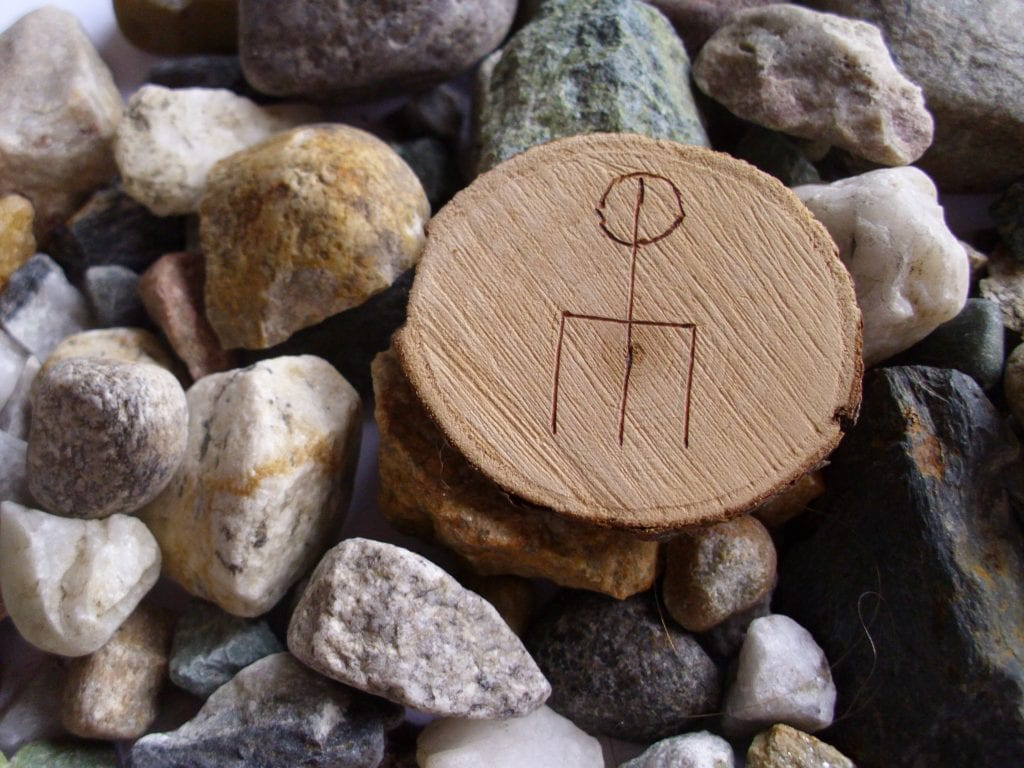 Wooden Rune Amulet For Love