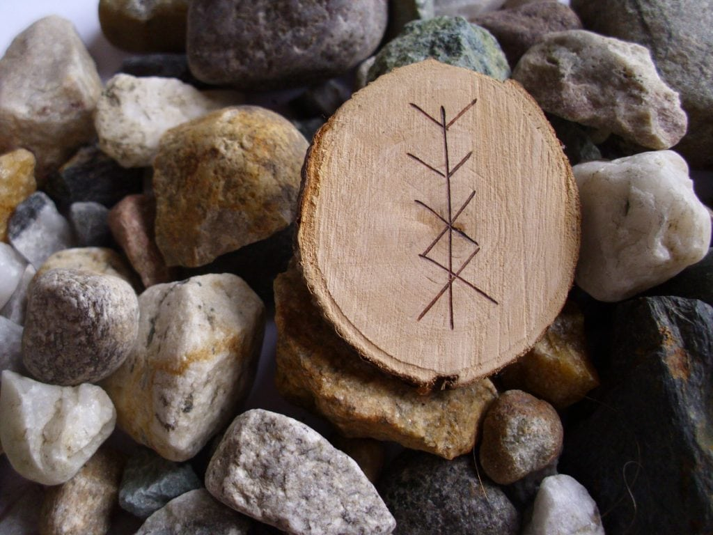 Wooden Rune Amulet For Personal Protection
