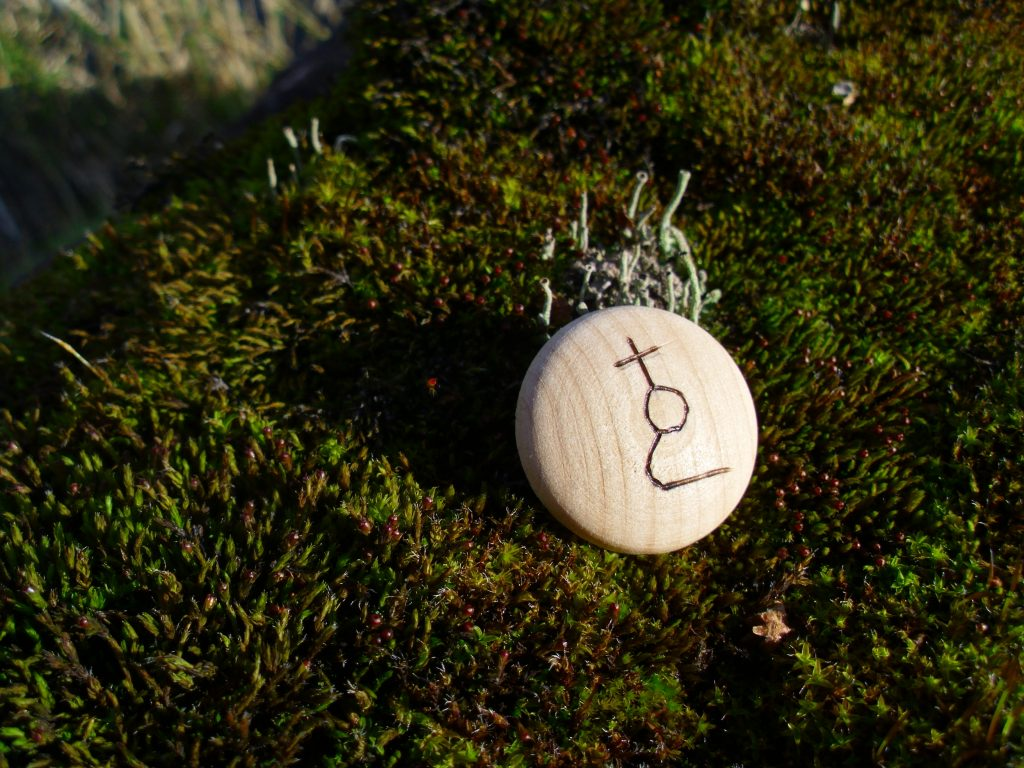 Pocket Rune for Accident Prevention - Wooden Rune Amulet