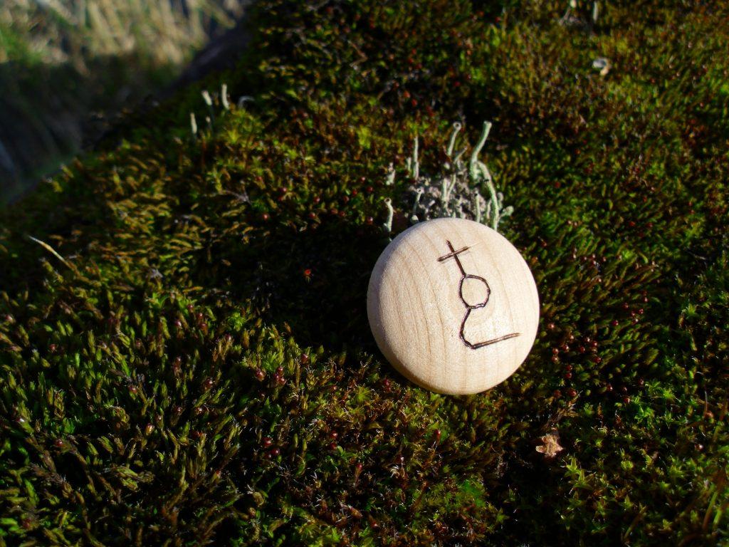 Pocket Rune for Accident Prevention - Wooden Rune Amulet