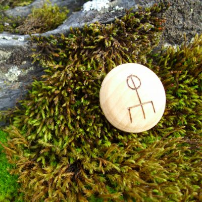 Pocket Rune to Attract Love - Wooden Rune Amulet / Kjærlighet