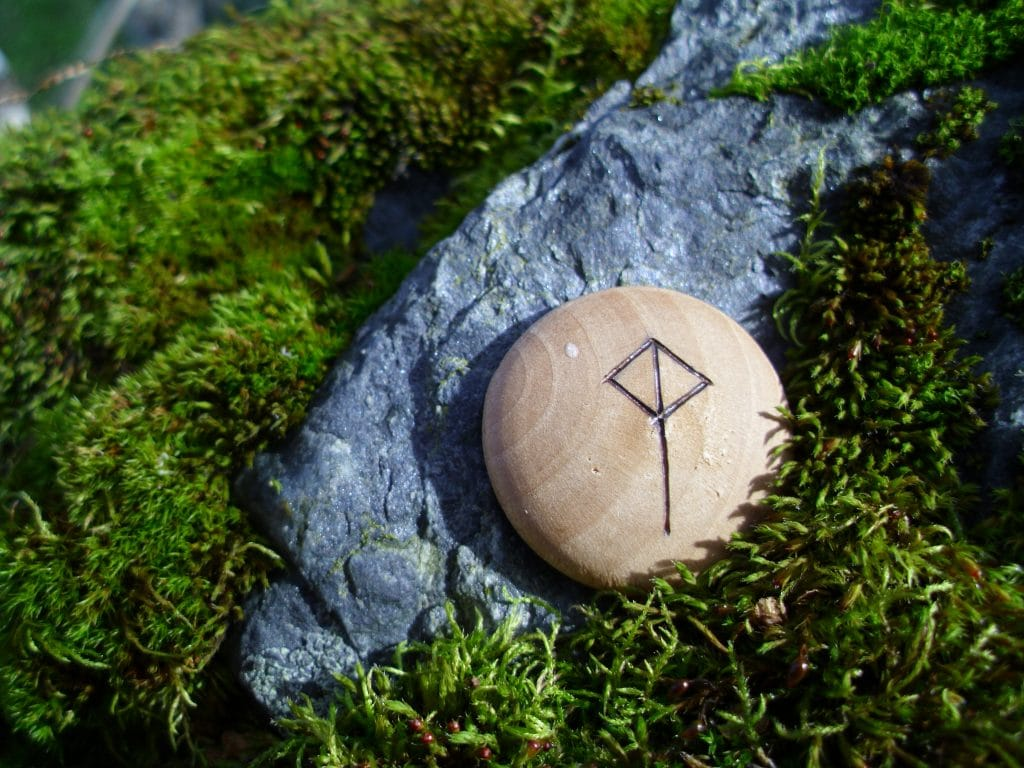 Pocket Rune for Balanced Joy - Wooden Rune Amulet