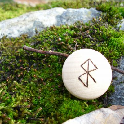 Pocket Rune to Ease Childbirth - Wooden Rune Amulet - Lette fødsel