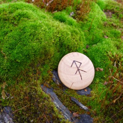 Pocket Rune for Energy - Wooden Rune Amulet - energi