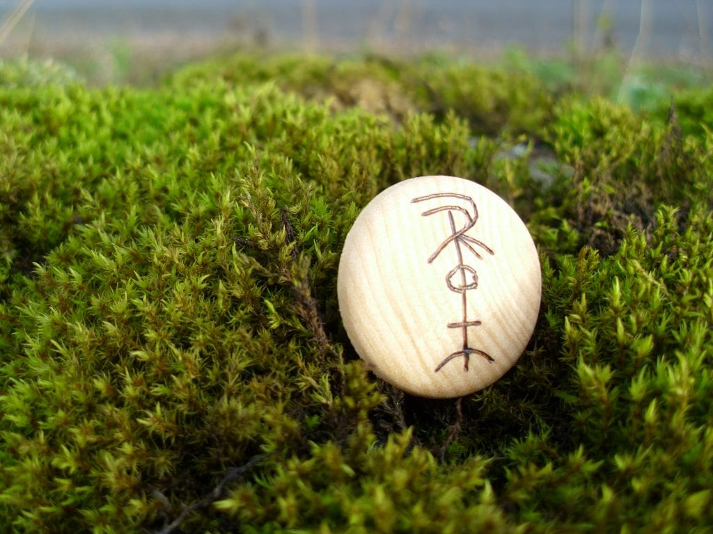 Freyr - Pocket Rune to ward off ill effects of magical incantations - Wooden Rune Amulet