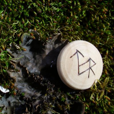 Pocket Rune for Justice - Wooden Rune Amulet - Rettferdighet