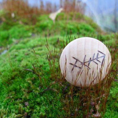 Pocket Rune for Weight Loss - Wooden Rune Amulet - Vekttap
