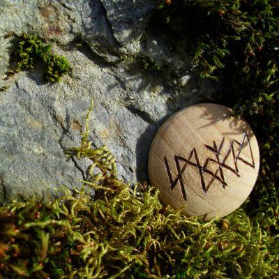 Pocket Rune to Stop Smoking - Wooden Rune Amulet - Slutte å røyke