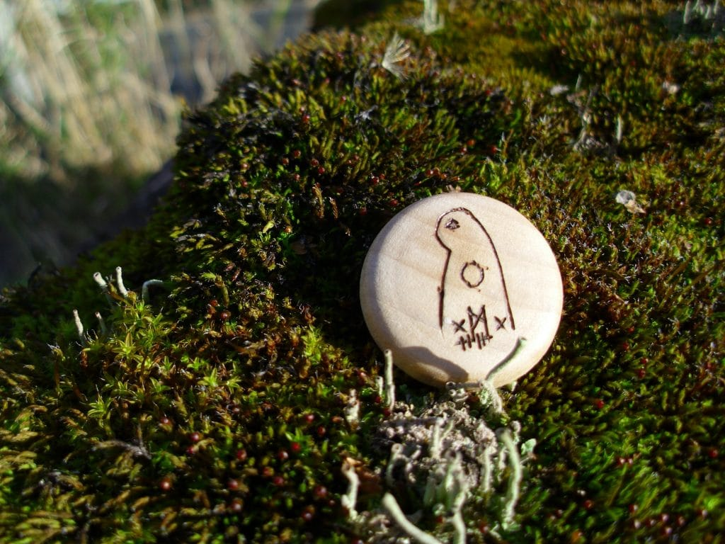 Pocket Rune to See What's Hidden - Wooden Rune Amulet