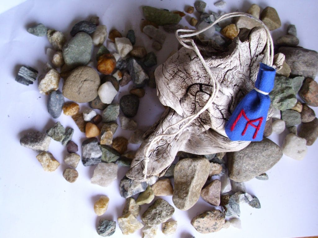 Amulet bag for emotional strength