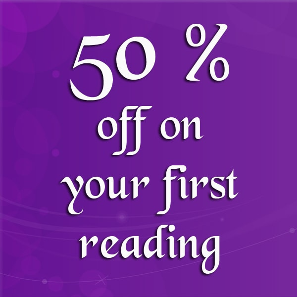 50 % off on your first reading