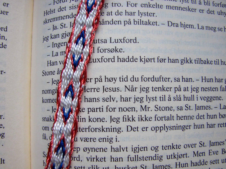 Tablet woven bookmark - Arrows - Brikkevevd bokmerke - piler
