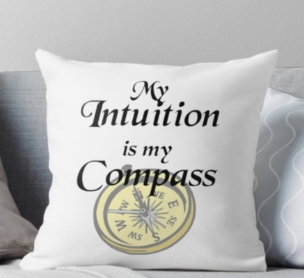 My intuition is my compass - pillow