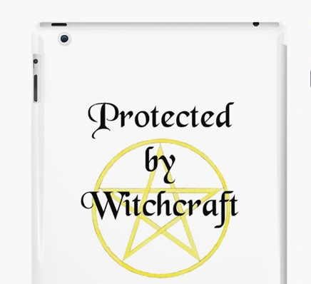 Protected by witchcraft - iPad case