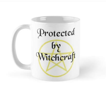 Protected by witchcraft - mug