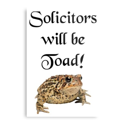 Solicitors will be toad - metal print