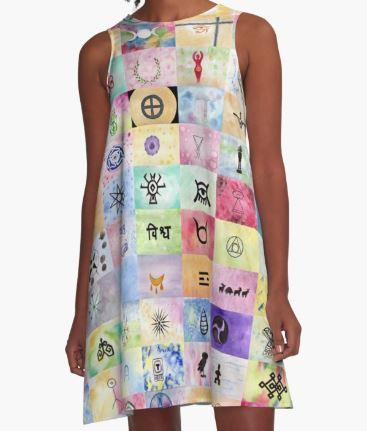 100 Sacred Symbols - A-line Dress