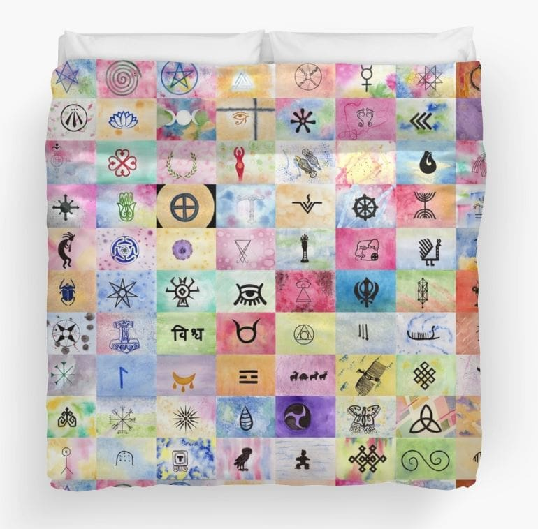 100 Sacred Symbols - Duvet