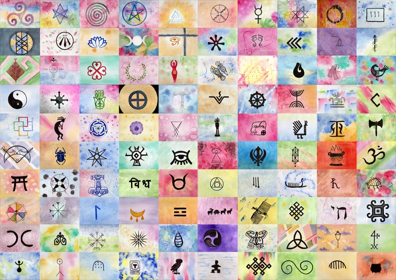 100 Sacred Symbols - 100 Hellige Symboler