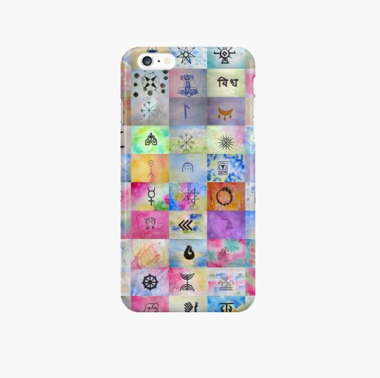 100 Sacred Symbols - iPhone Case