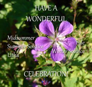 Have a wonderful solstice d'celebration