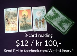 3-card reading kr 100/$12