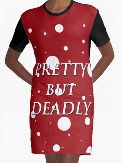 pretty but deadly womens tshirt dress
