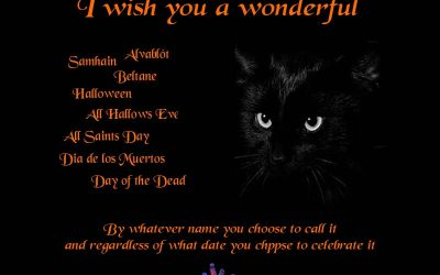 Have a wonderful Samhain (or Halloween)