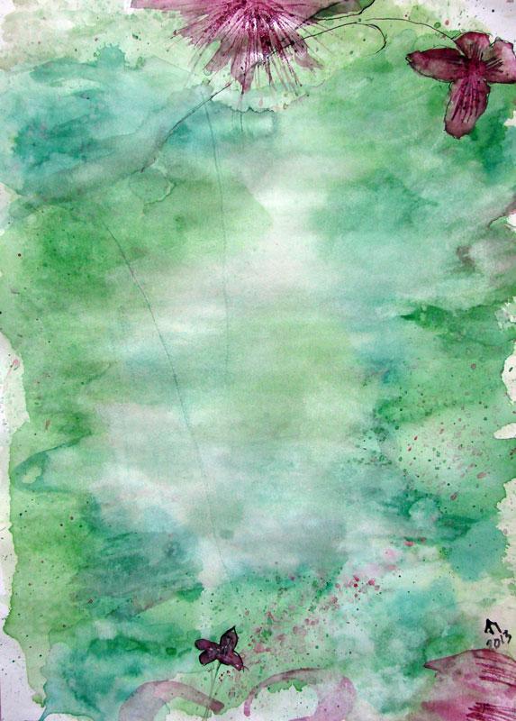 Abstrakt Floral bakgrunn