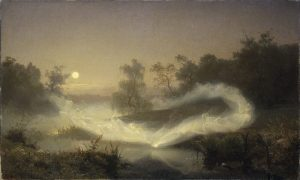 """Älvalek"" (""Elf Play"" although the museum lists it as ""Dancing Fairies"") oil painting by August Malmström 1866"