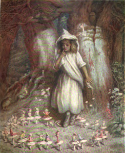 """The Elf Ring"" watercolour painting by Kate Greenaway ca 1900"